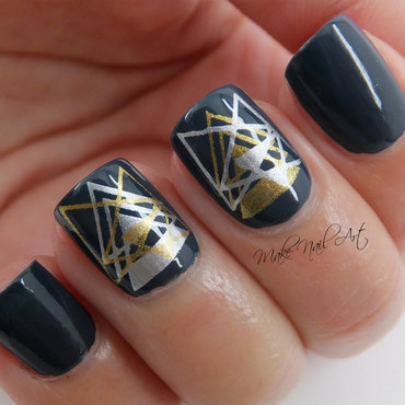 Geometric Stamping nail art by Make Nail Art