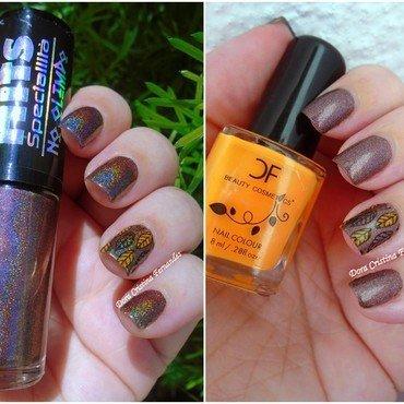 Fall nail art by Dora Cristina Fernandes