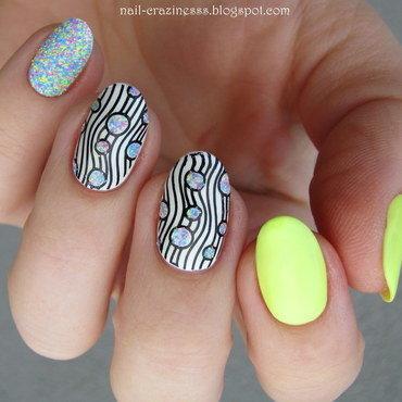 Neon sugar nail art by Nail Crazinesss
