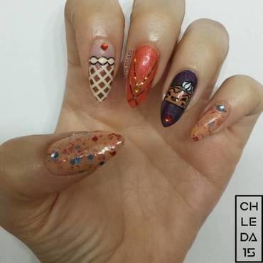 Thanksgiving Pies nail art by chleda15