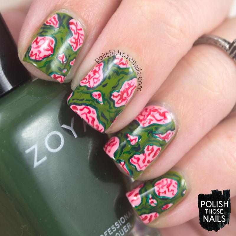 I Beleaf You're Bleeding nail art by Marisa  Cavanaugh