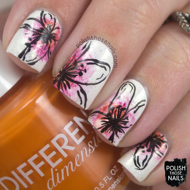 Hay Floral Hay! nail art by Marisa  Cavanaugh