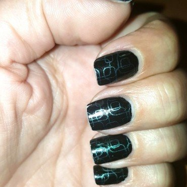Black nail art by Katarinna