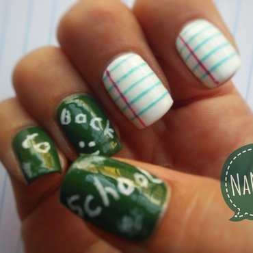 Back to school nail art by NaNails