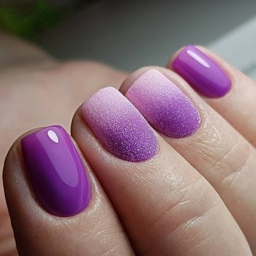 purple nails nail art by beautybigbang