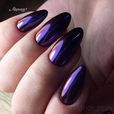 mirror effect purple nails design nail art by beautybigbang