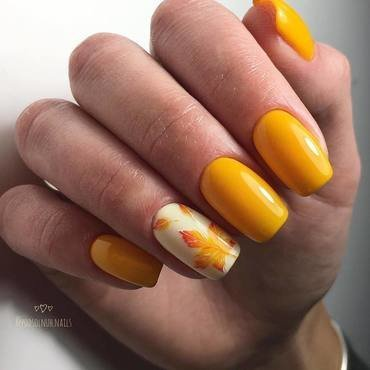 yellow nails for fall nail art by beautybigbang