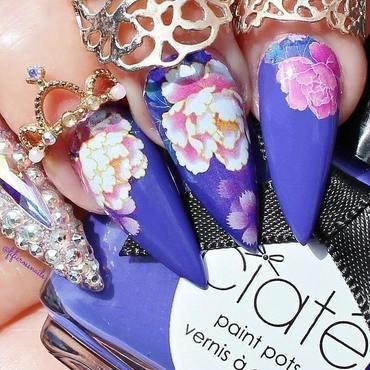 floral nail art nail art by beautybigbang