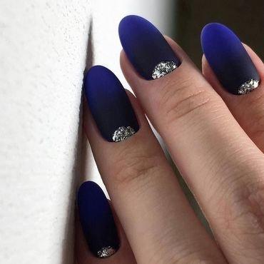 purple matte nails design nail art by beautybigbang