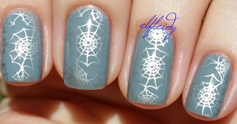 Spider webs nail art by Jenette Maitland-Tomblin