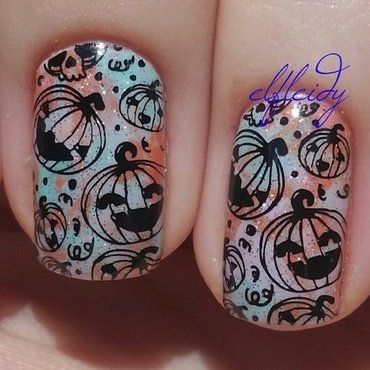 Pumpkins nail art by Jenette Maitland-Tomblin
