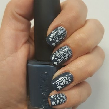 Blue nail art by Katarinna