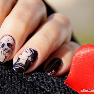 Make me wanna die nail art by 74ines