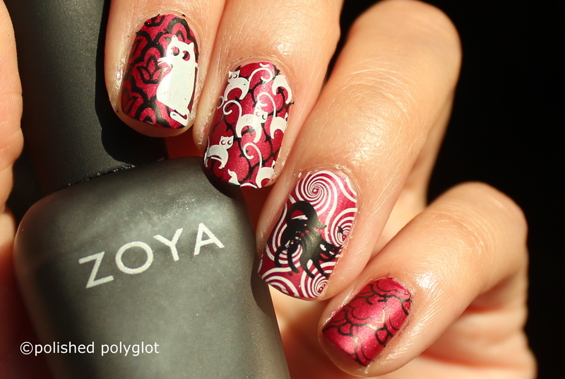 Superstiotion brings bad luck nail art by Polished Polyglot
