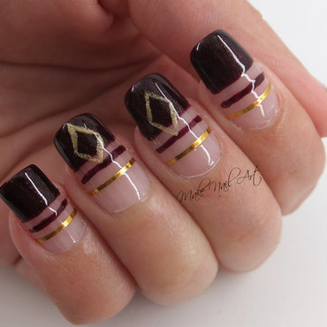 Dark Red Autumn Nails nail art by Make Nail Art