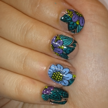 Stamp me a flower nail art by AnnDunwich