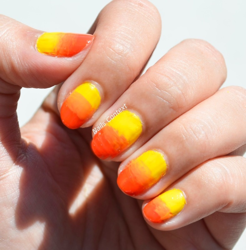 Fall Ombre Nails  nail art by NailsContext