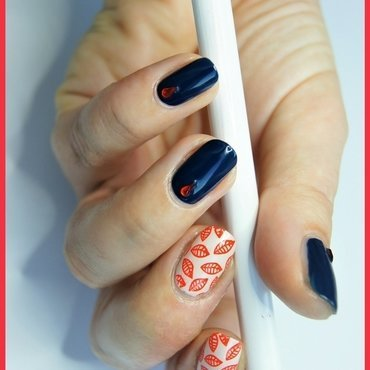Leaves nail art by ELIZA OK-W