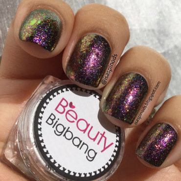 Purple Holo Glitter Nails nail art by beautybigbang