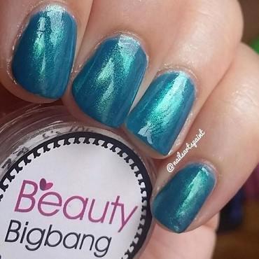 blue glitter nails nail art by beautybigbang