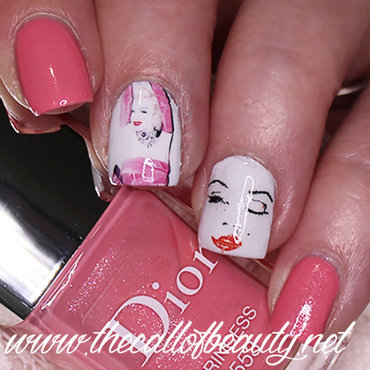 Gentlemen Prefer Blondes  nail art by The Call of Beauty