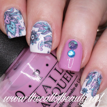 Paisley nail art by The Call of Beauty