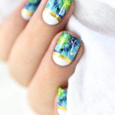 Marble & Foil nail art by Marine Loves Polish