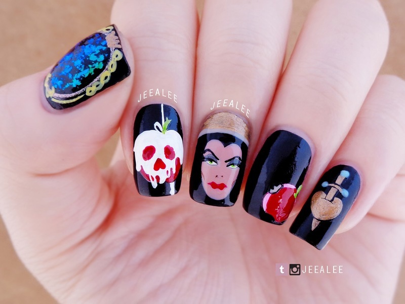 Evil Queen Nails nail art by JeeA Lee - Nailpolis: Museum of Nail Art