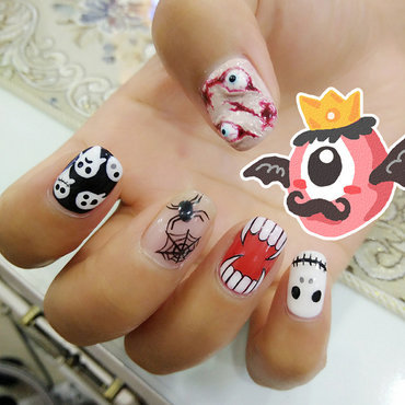 Awesome Halloween nail art nail art by beautybigbang