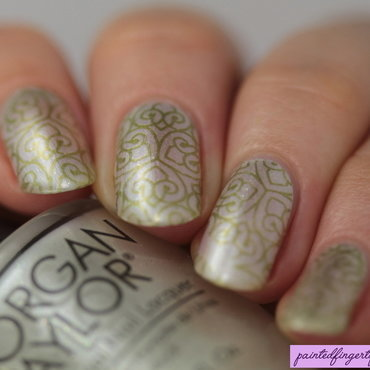 Bridal stamping nail art by Kerry_Fingertips