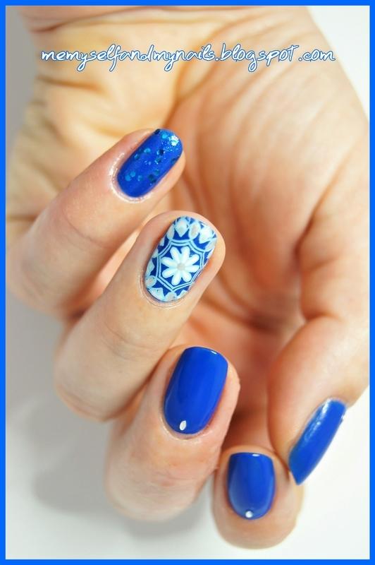 BLUE nail art by ELIZA OK-W