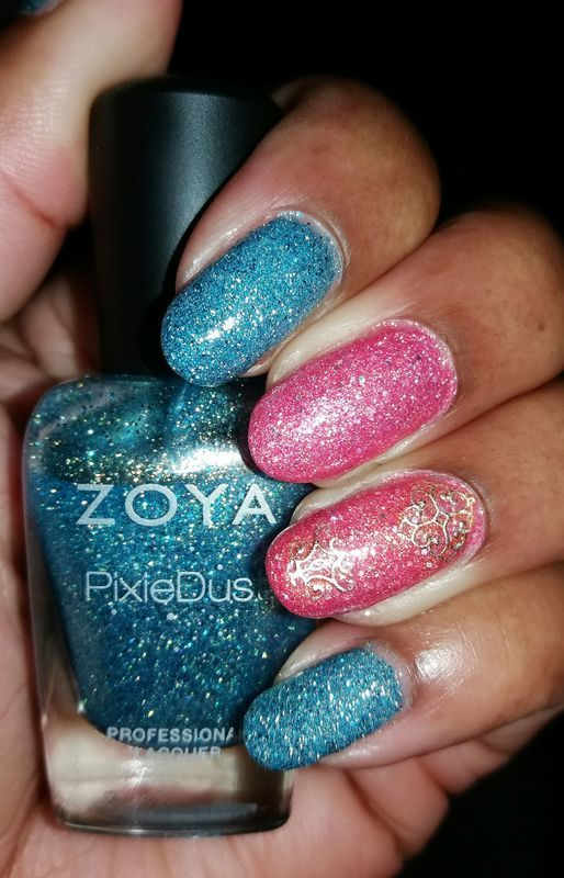 Zoya Love nail art by Jackie Bodick