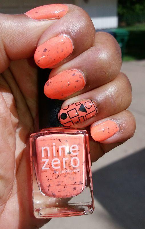 Smoothie Bar Orange nail art by Jackie Bodick