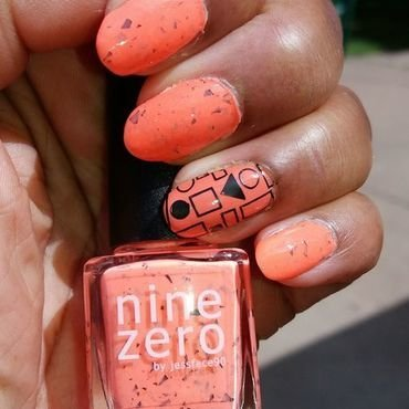 Smoothie Bar Orange nail art by Jackie Bodick