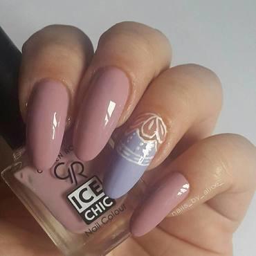 nude nail design nail art by beautybigbang