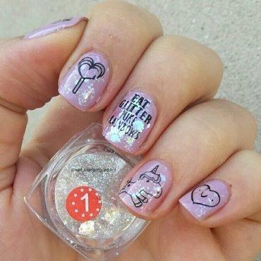 pink cute nails nail art by beautybigbang