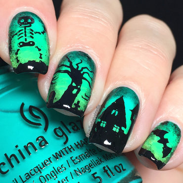 cute Halloween nails nail art by beautybigbang
