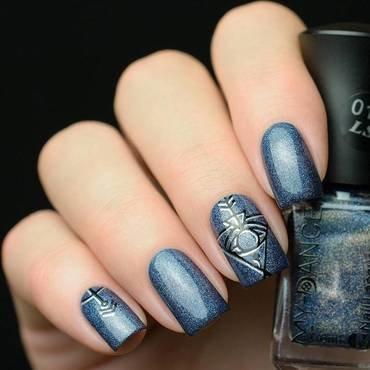 Purple Holo Glitter Nails nail art by beautybigbang