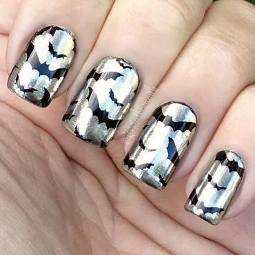 Halloween bat nails nail art by beautybigbang