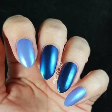 blue nails nail art by beautybigbang
