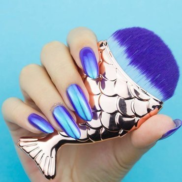 purple nails nail art by beautybigbang