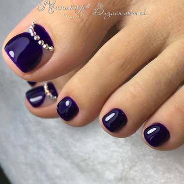 purple toe nails nail art by beautybigbang