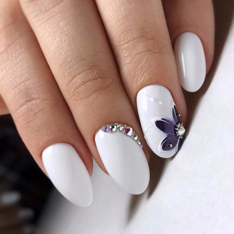 white flower nails nail art by beautybigbang - Nailpolis: Museum of ...