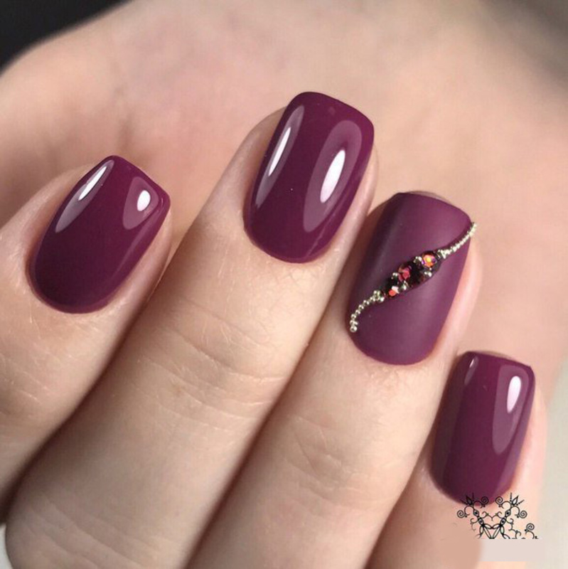 Dark Red Nail Art Nail Art By Beautybigbang