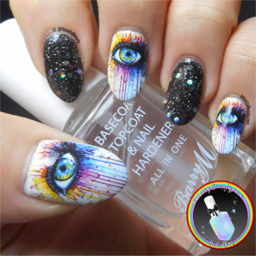 Colourful Eye Water Decals nail art by Ithfifi Williams