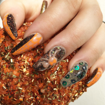 Caught in my web nail art by Kristen Lovett