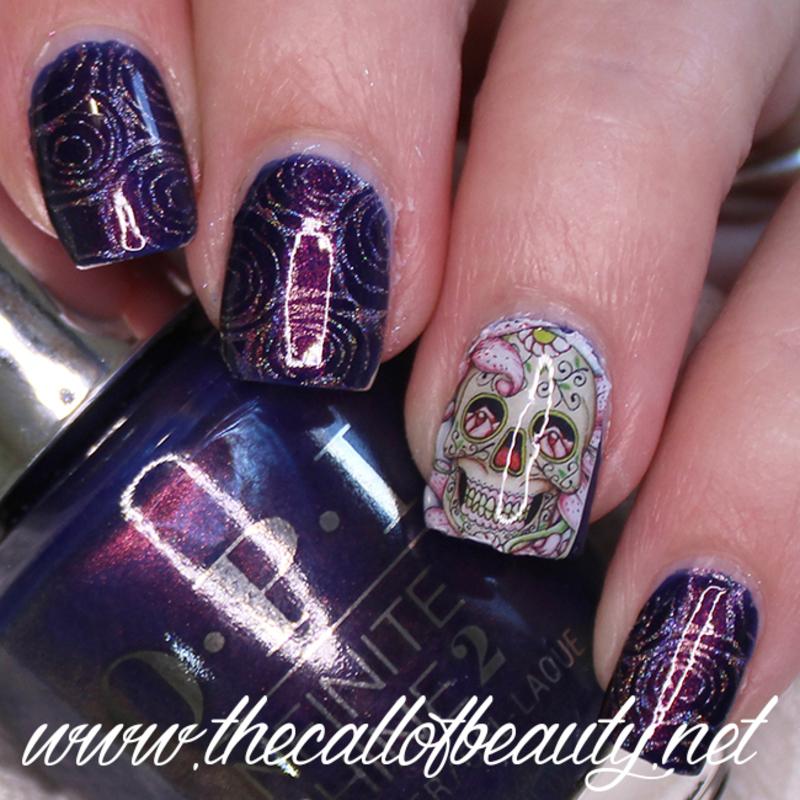 Sugar Skull nail art by The Call of Beauty