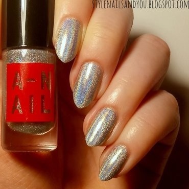 A-NAIL 01 Holographic Polish Swatch by StyleNailsAndYou