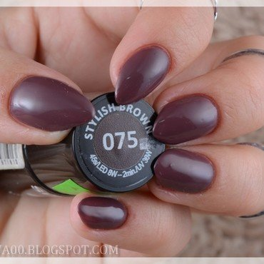Semilac 075 Stylish Brown Swatch by Jadwiga