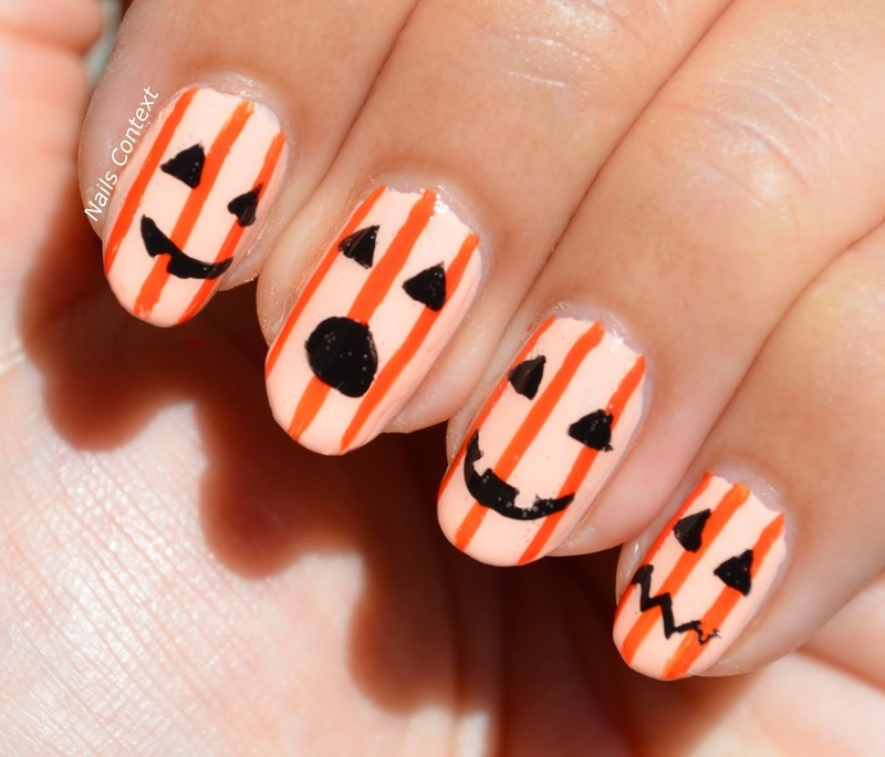 Jack-O-Lanterns nail art by NailsContext - Nailpolis: Museum of Nail Art